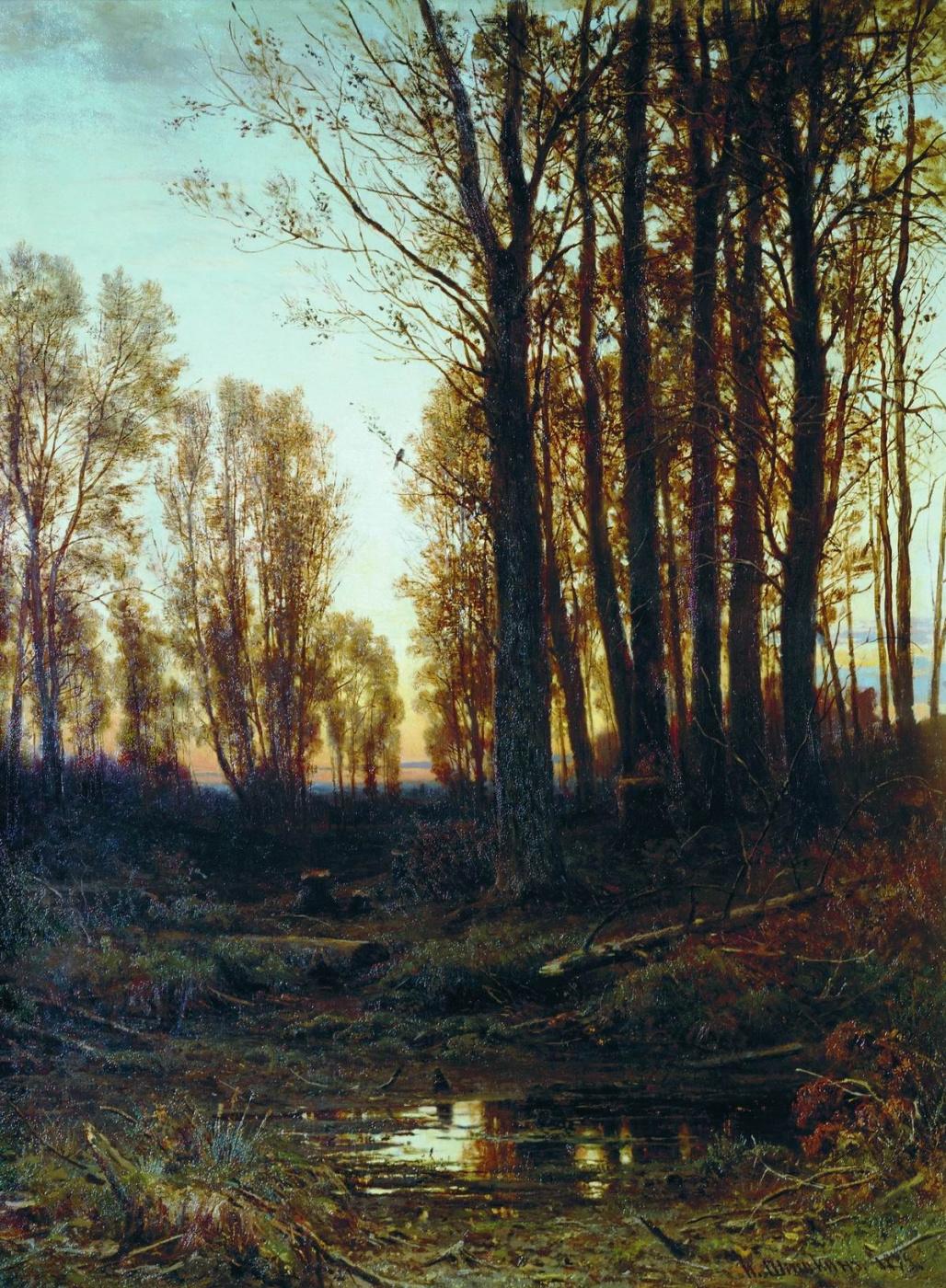 Ivan Shishkin. Twilight. Sunset