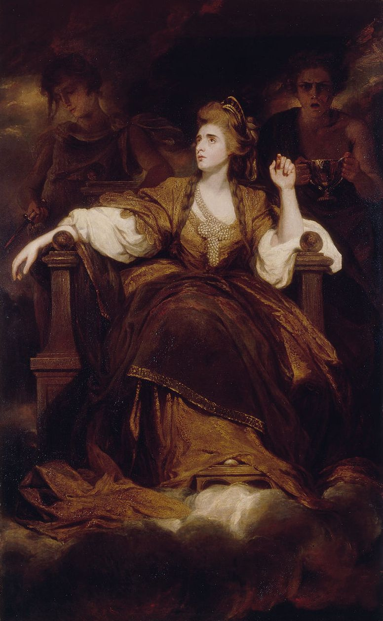 Joshua Reynolds. Portrait of Sarah Siddons as a Muse of Tragedy