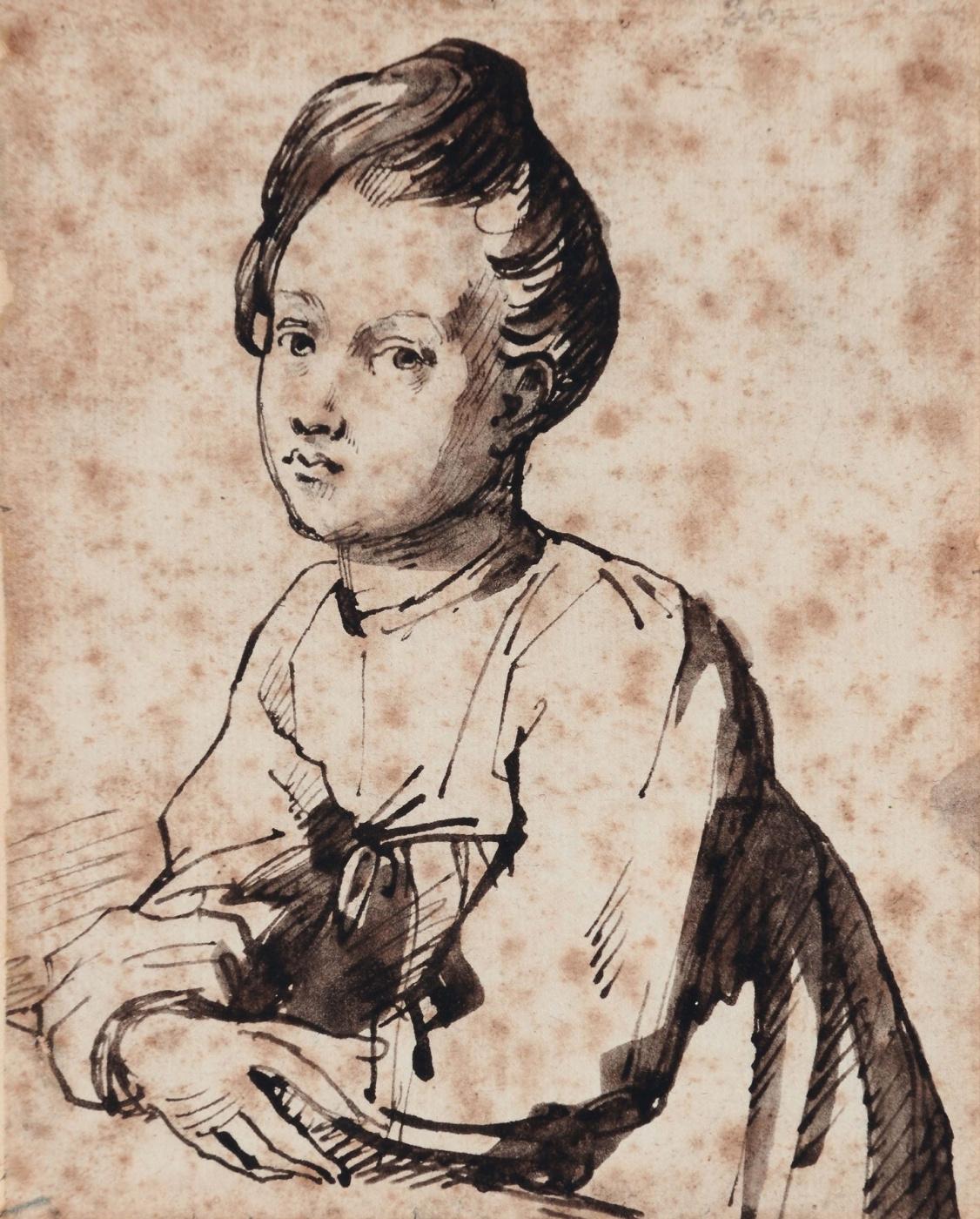 Théodore Géricault. Portrait of a child at the table