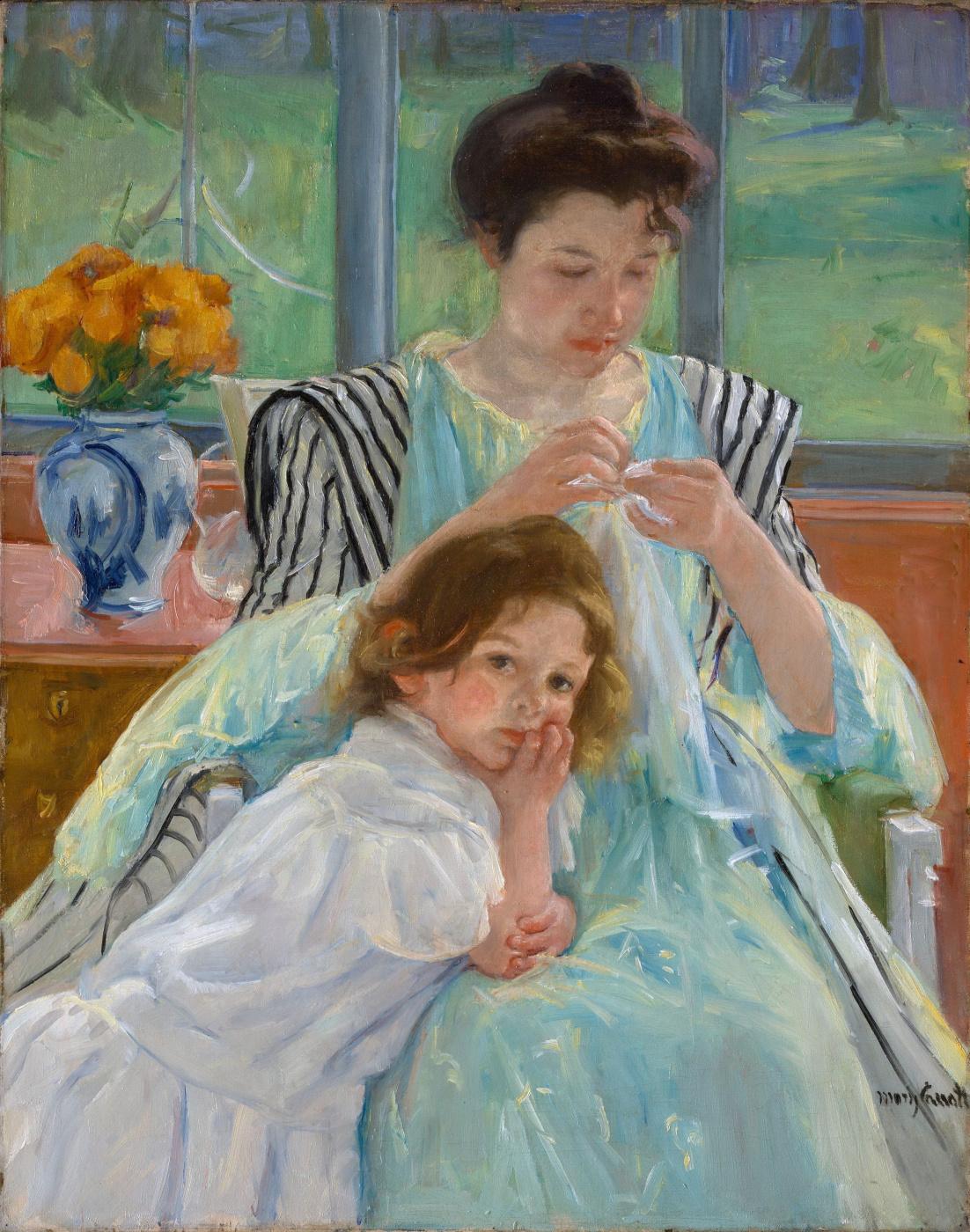 Mary Cassatt. A young mother