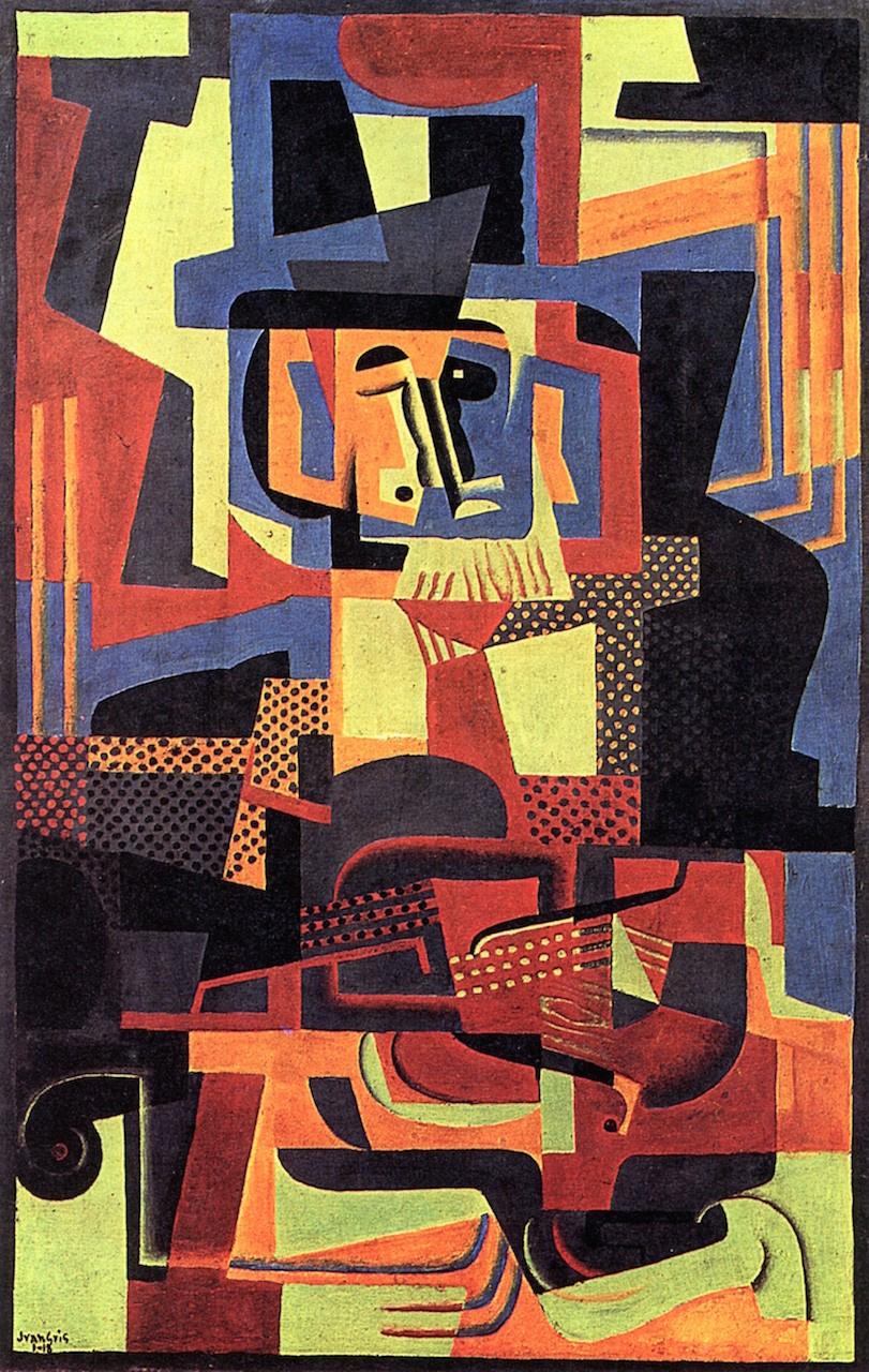 Juan Gris. The man with the violin