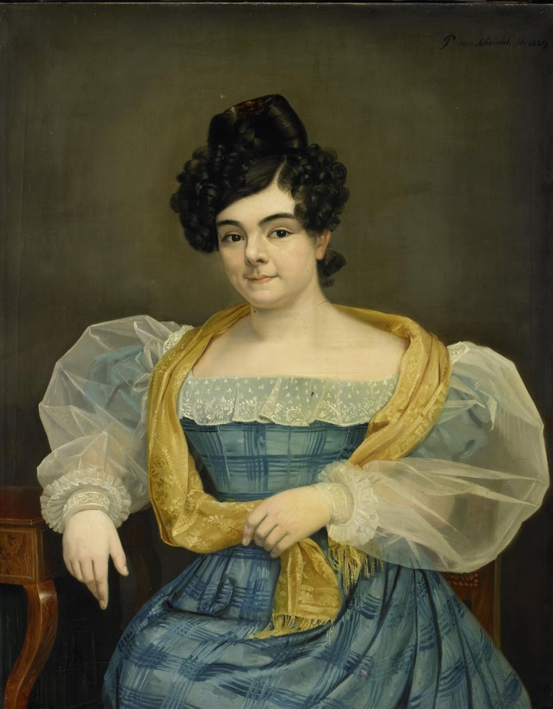 Petrus van Shendel. Portrait of Adriana Johanna van Wijk of his wife Johannes Plose van Amstel. 1829