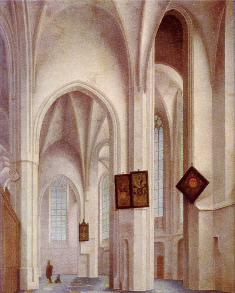 Peter Janson Sanremo. Interior view of St. James Church in Utrecht