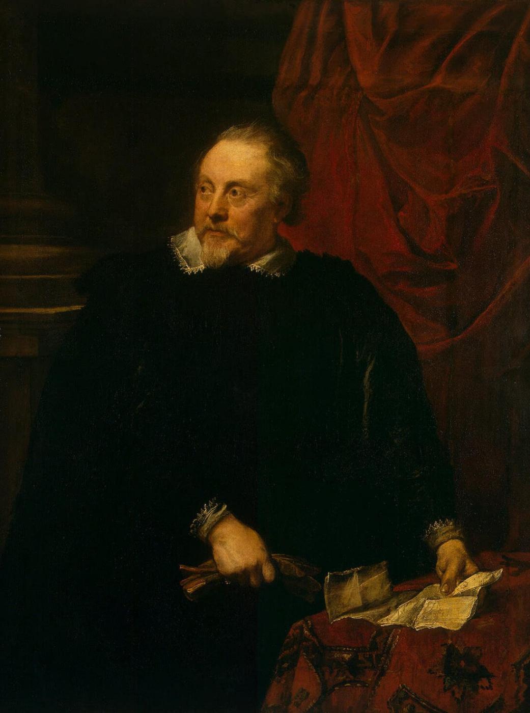 Anthony van Dyck. Portrait of a man (probably Marc-Antoine Lyman)