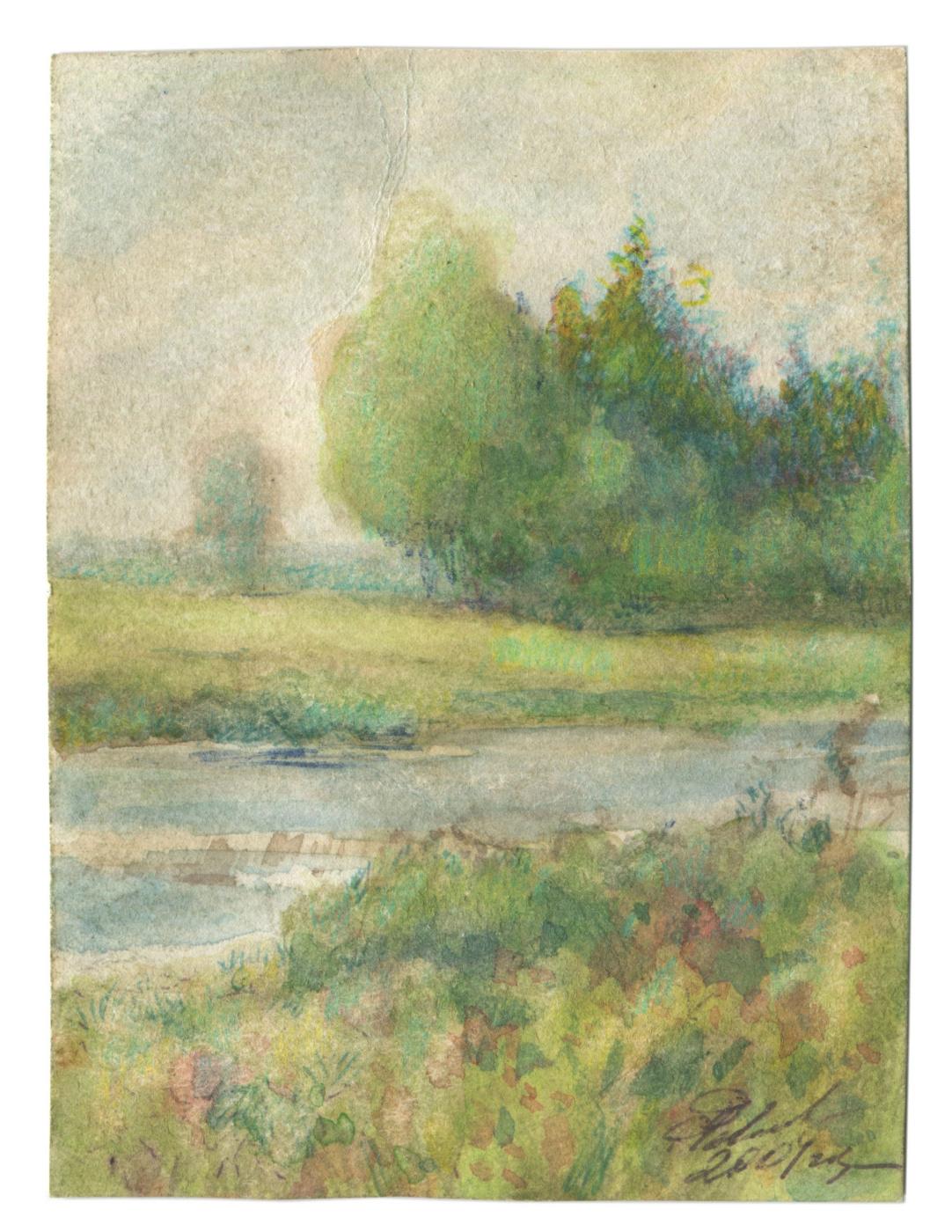 Alexandrovich Rudolf Pavlov. Landscape is a fantasy. I am 63 years old ... 2001.
