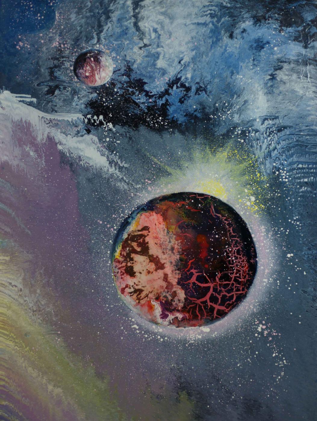 "Alla Struchayeva. Painting ""Revival of the Universe"""