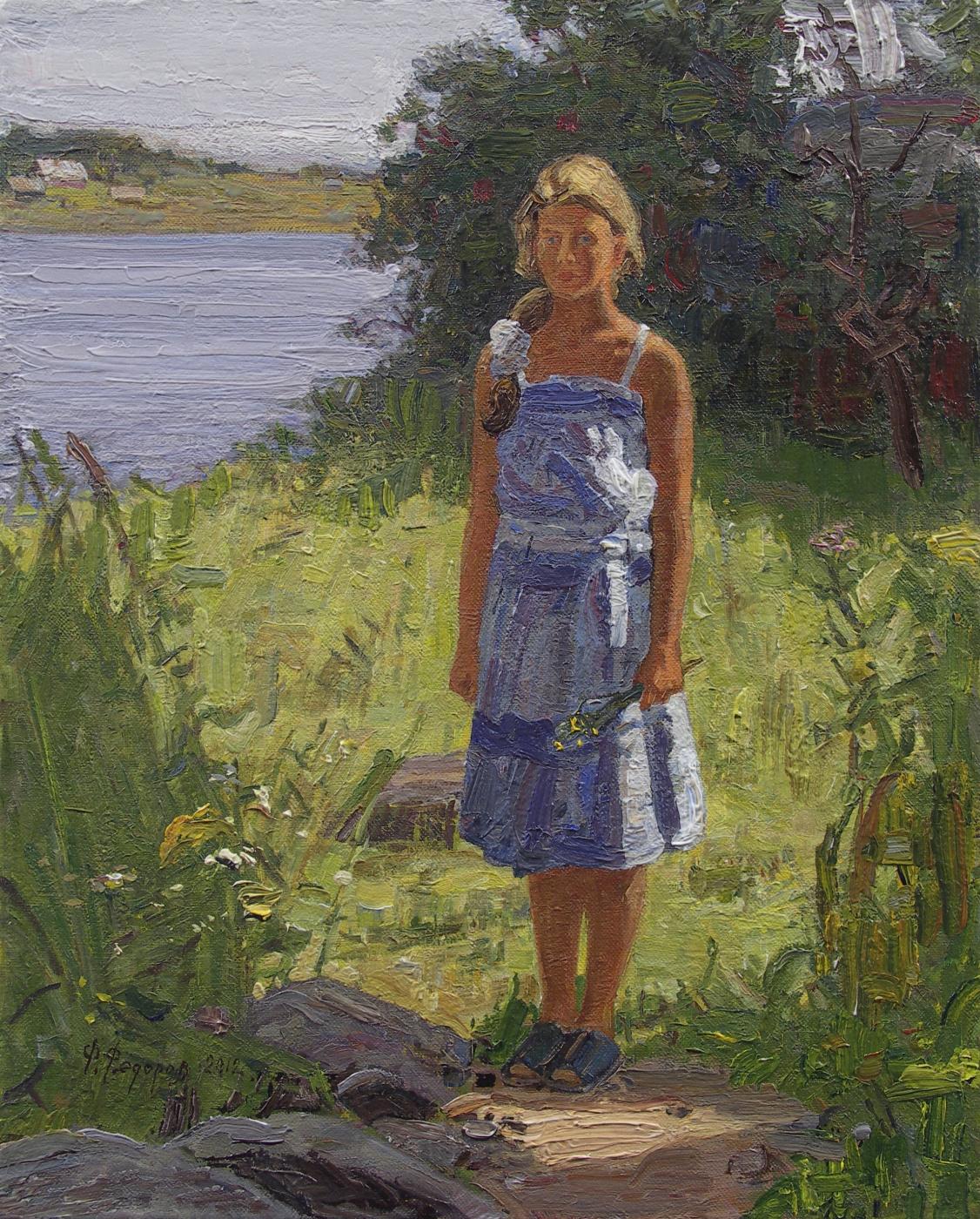 Фёдор Борисович Фёдоров. Masha on the banks of the Volkhov