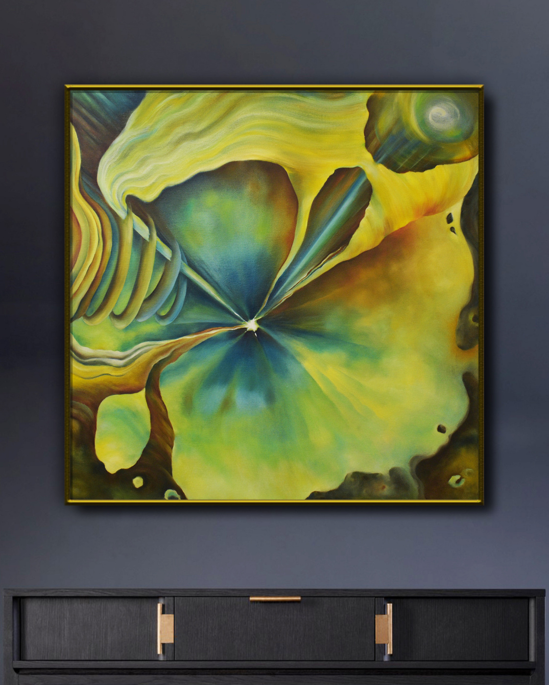 POINT OF SPACE- original oil painting