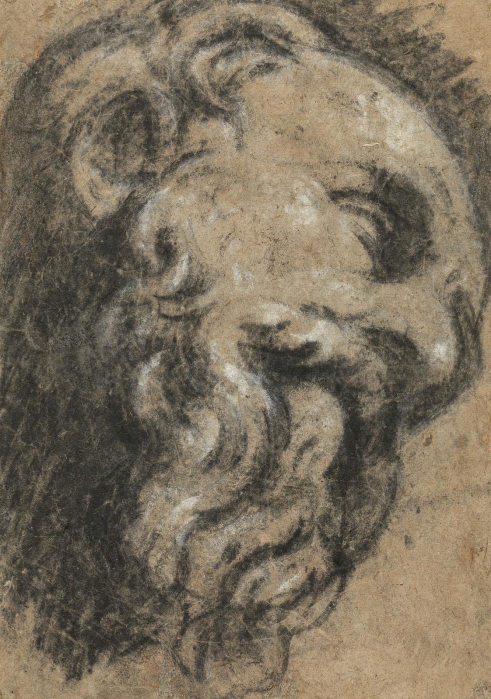 Jacopo (Robusti) Tintoretto. Study after Michelangelo. Saint Damian