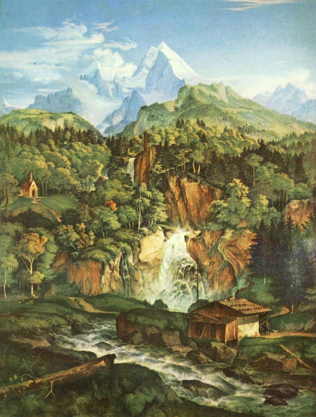 Adrian Ludwig Richter. Mount Watzman