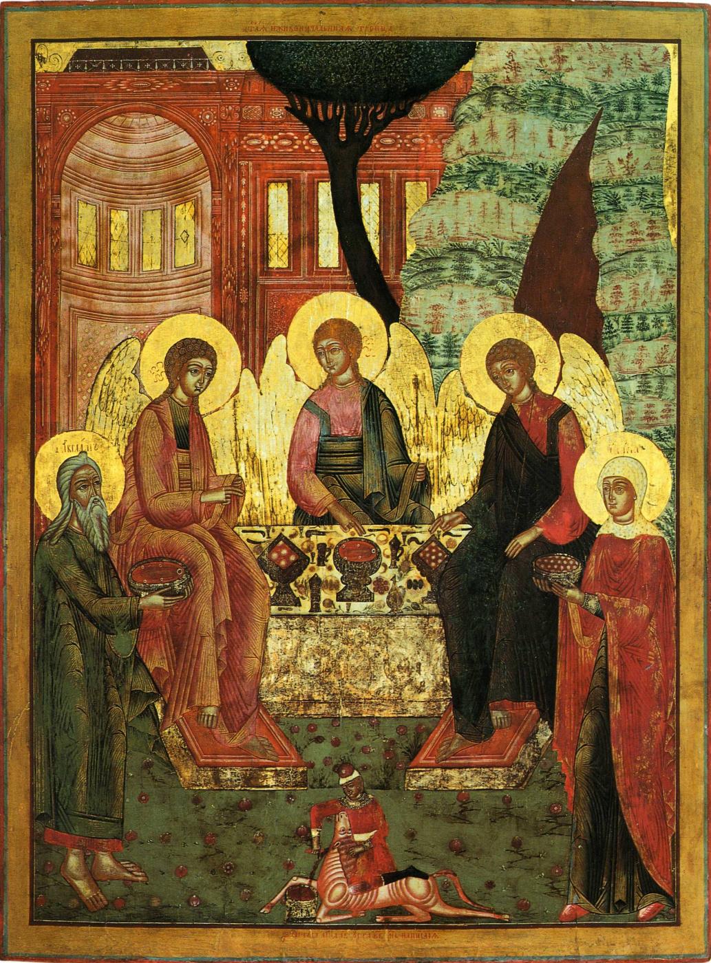 Icon Painting. Old Testament Trinity (Nevyansk)
