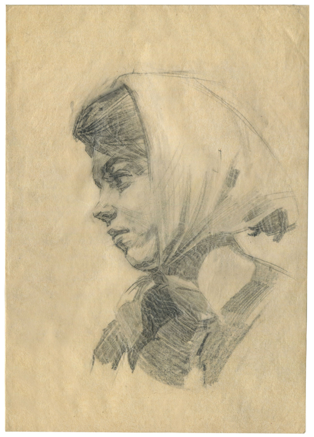 Alexandrovich Rudolf Pavlov. Sketch of a woman's head.