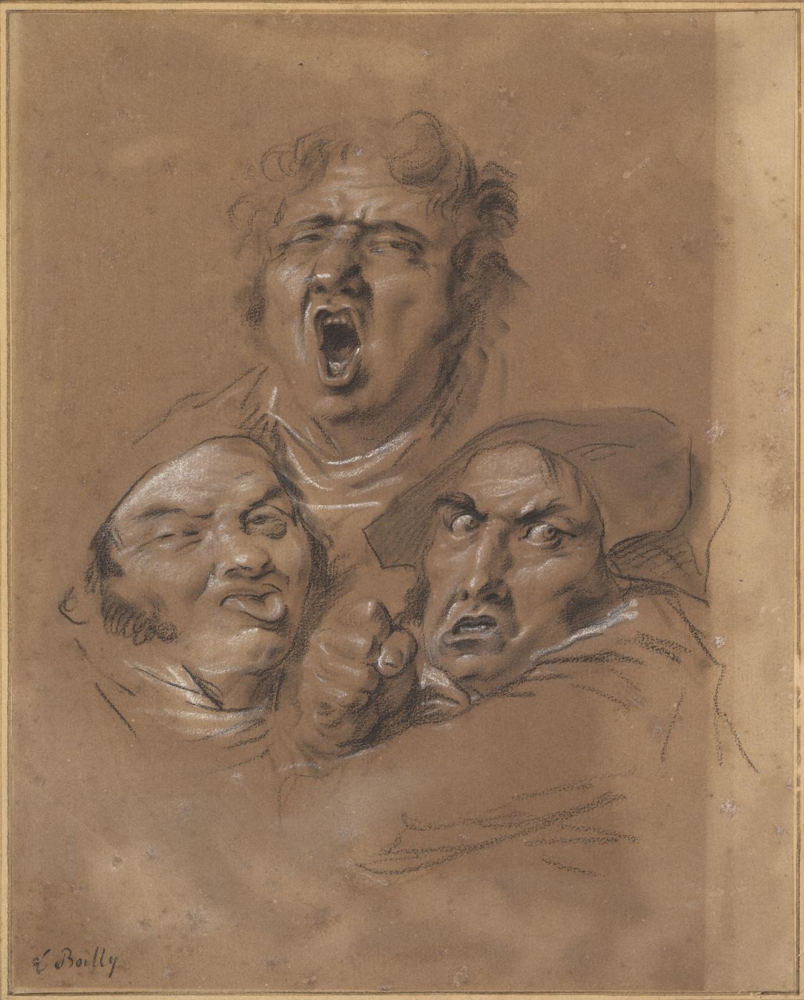 Louis-Leopold Boi. Study of Three Heads