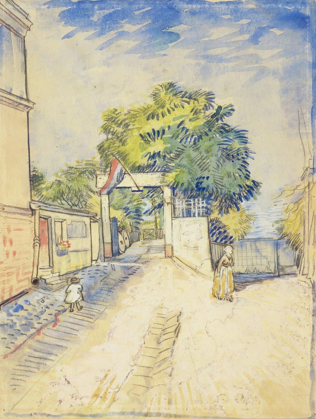 Vincent van Gogh. Entrance to the Moulin de La Galette