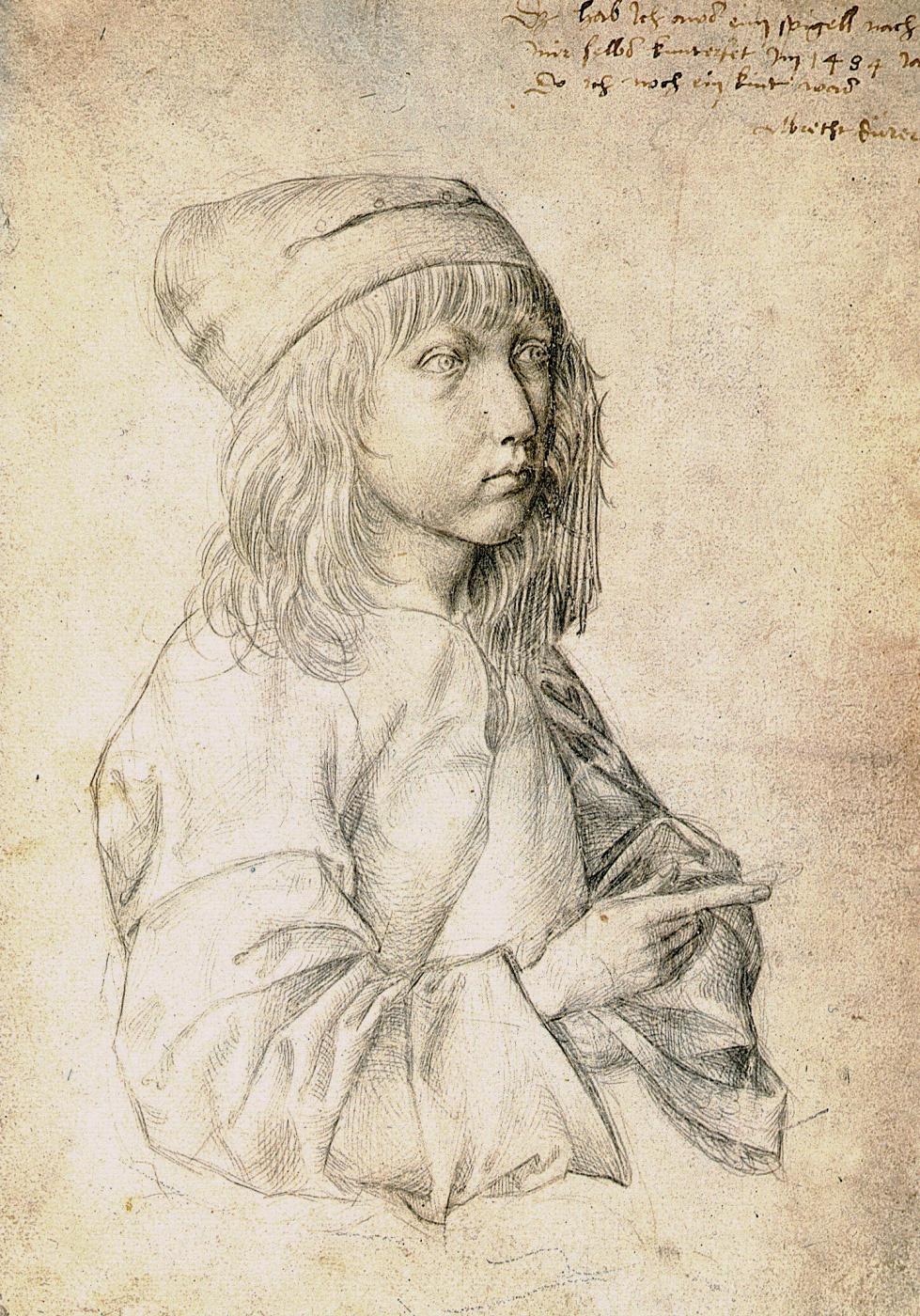 Albrecht Durer. Self-portrait at the age of 13