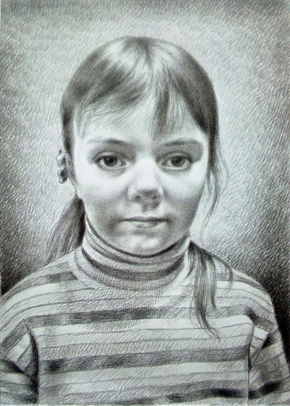 Ruslan Vasilievich Derevtsov. Portrait of the girl Sasha. (2020)