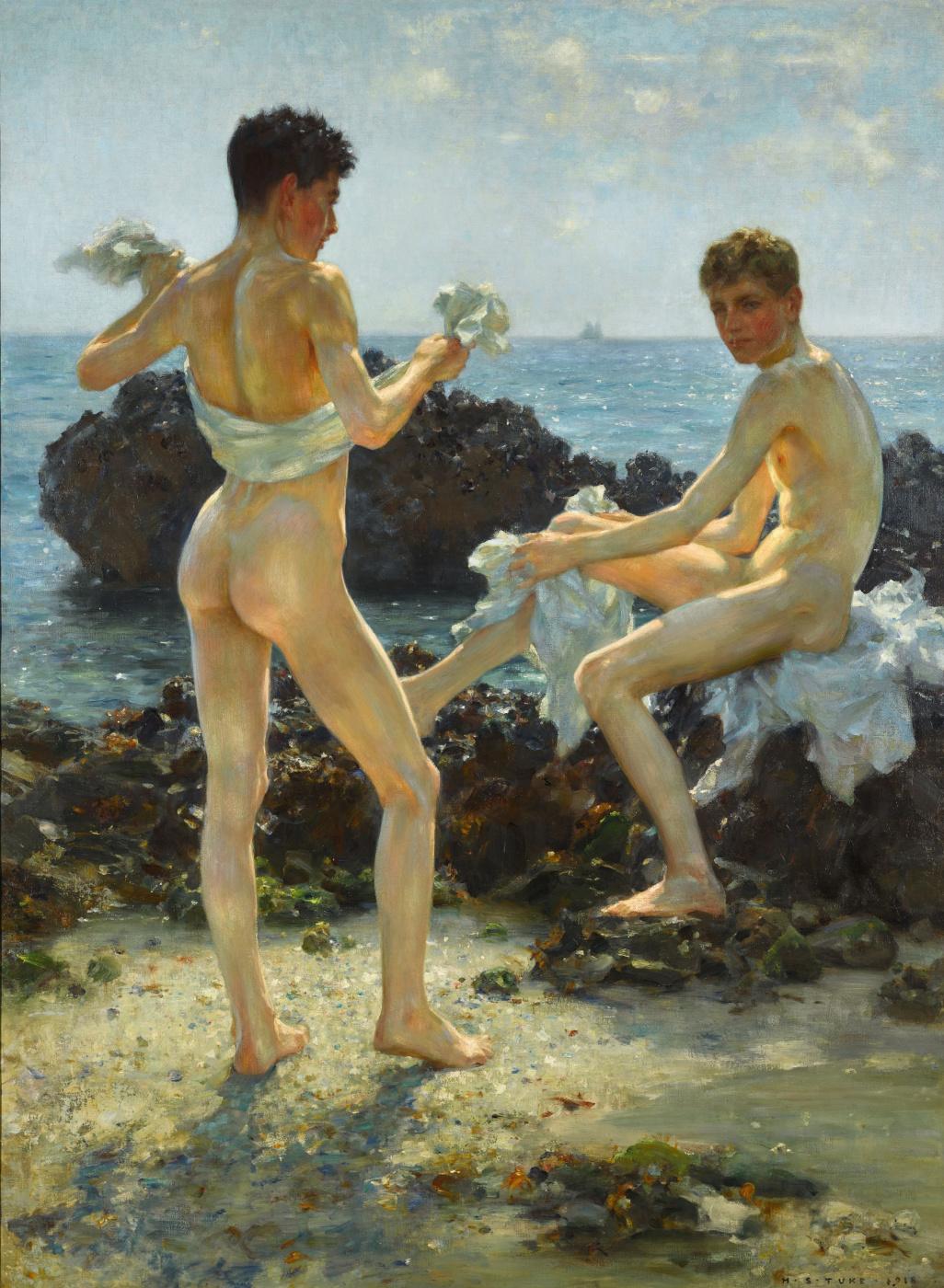 Tuke Henry Scott. 1858-1929. Under the western sun, 1918