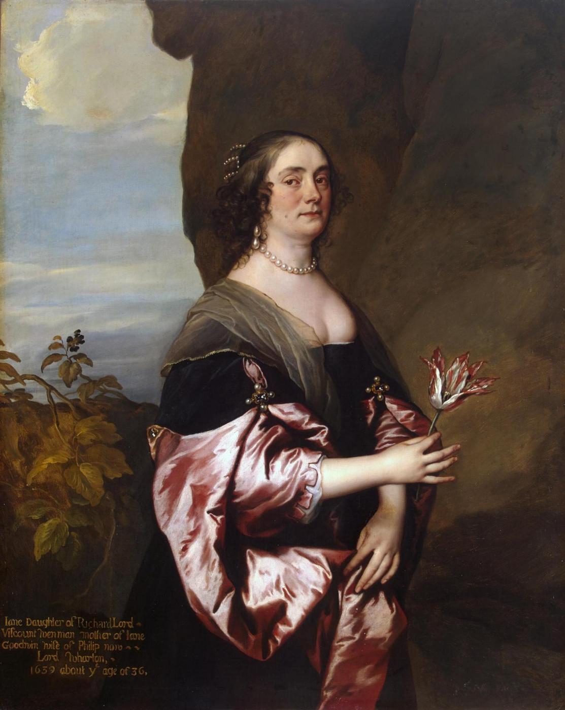 Anthony van Dyck. Portrait of Jane Wenman, lady Goodwin
