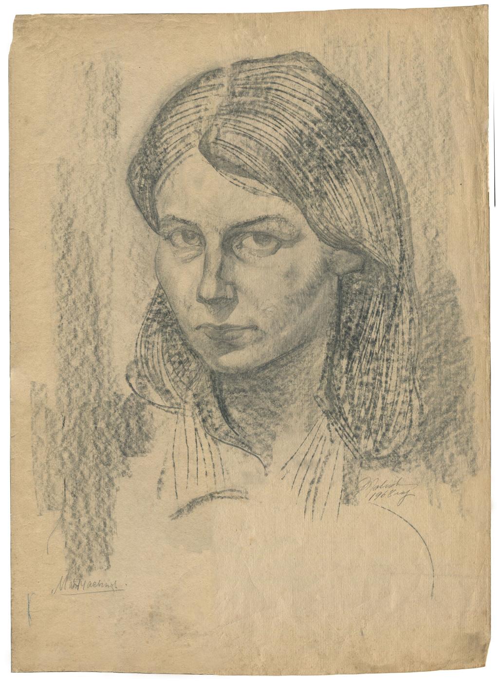 Alexandrovich Rudolf Pavlov. Portrait of a woman 3.