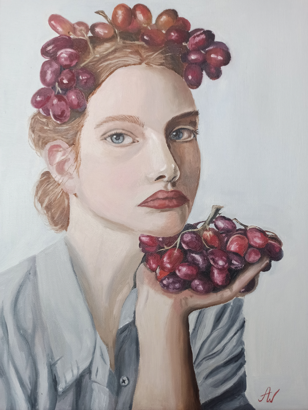 Aina Wi. Girl with grapes