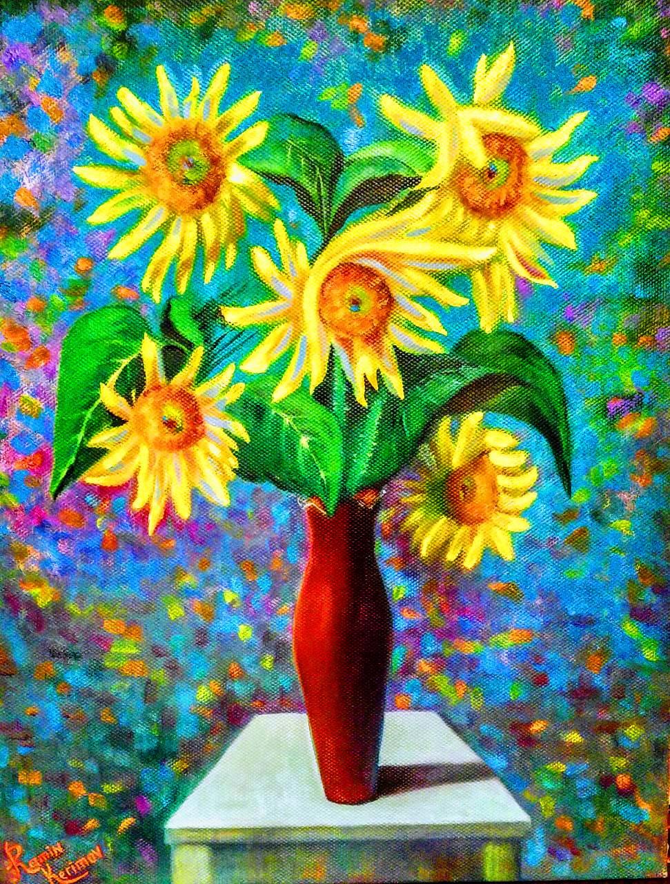 Ramin Kerimov. Sunflowers