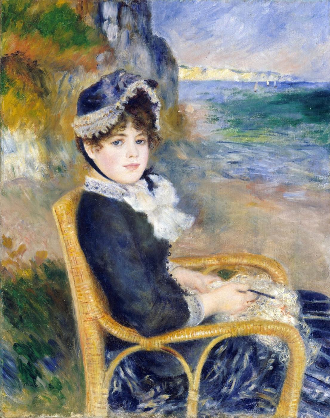 Pierre-Auguste Renoir. On the seashore (Alina Sharigo)