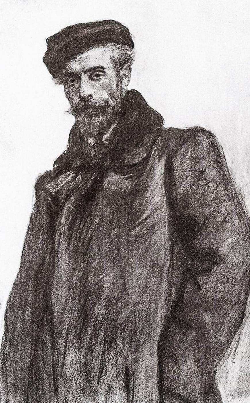 Valentin Aleksandrovich Serov. Portrait of Isaac Levitan