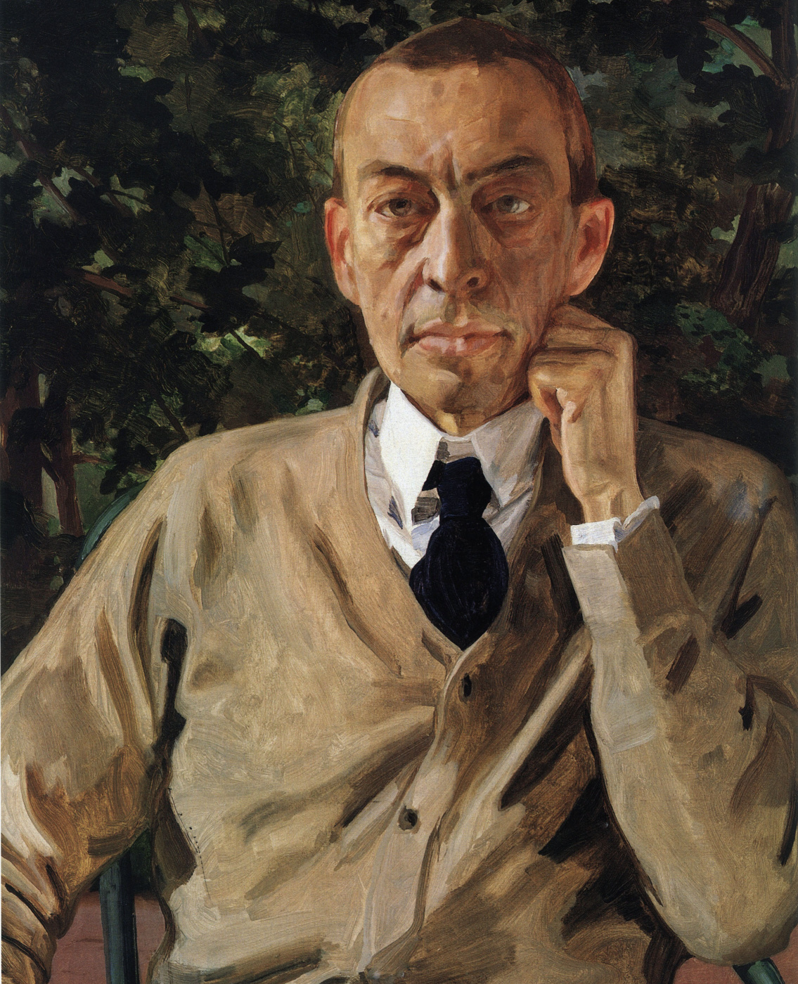 Konstantin Somov. Portrait of the composer Sergei Rachmaninoff