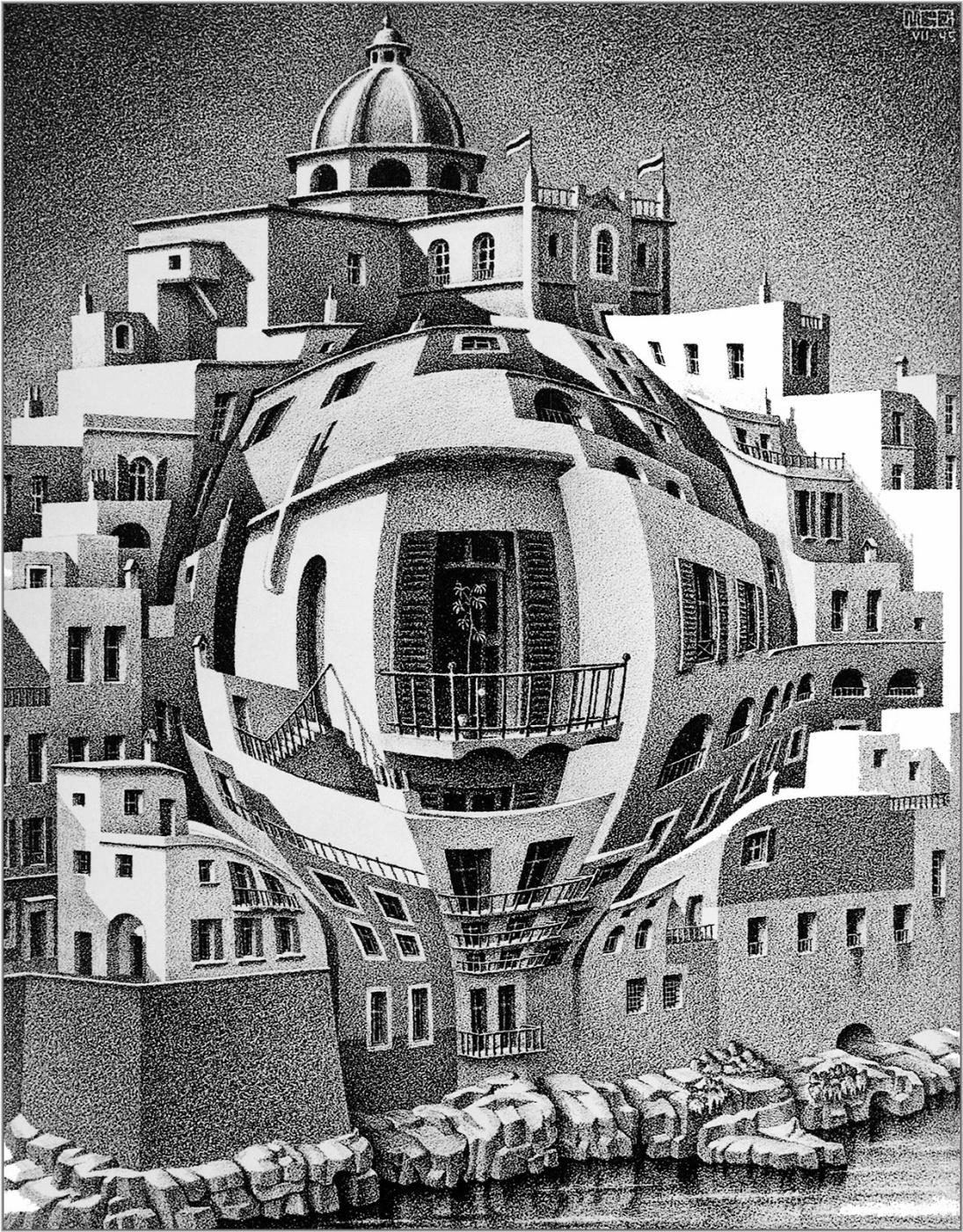 Maurits Cornelis Escher. Balcony