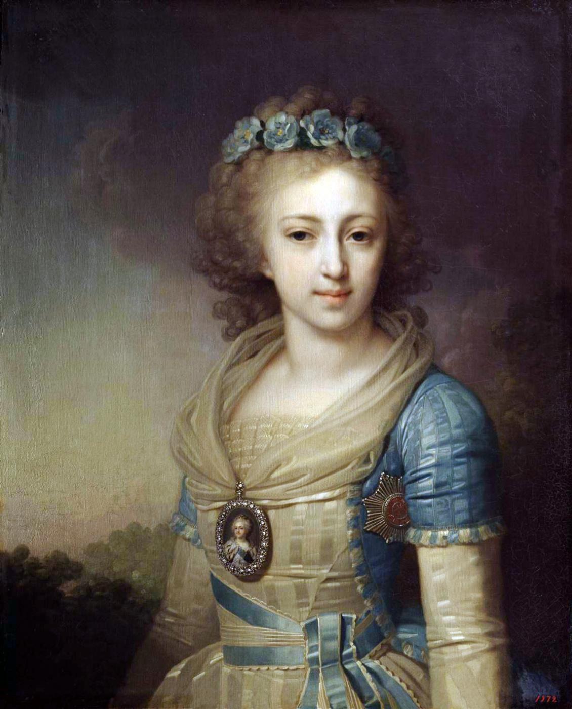 Vladimir Borovikovsky. Portrait of Grand Duchess Elena Pavlovna