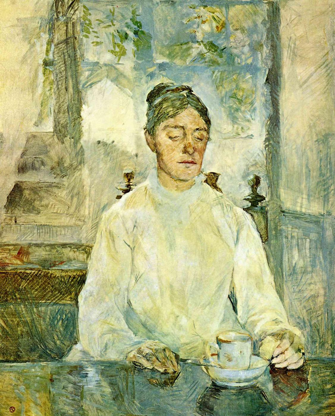 Henri de Toulouse-Lautrec. The artist's mother, the Countess Adele de Toulouse-Lautrec at Breakfast