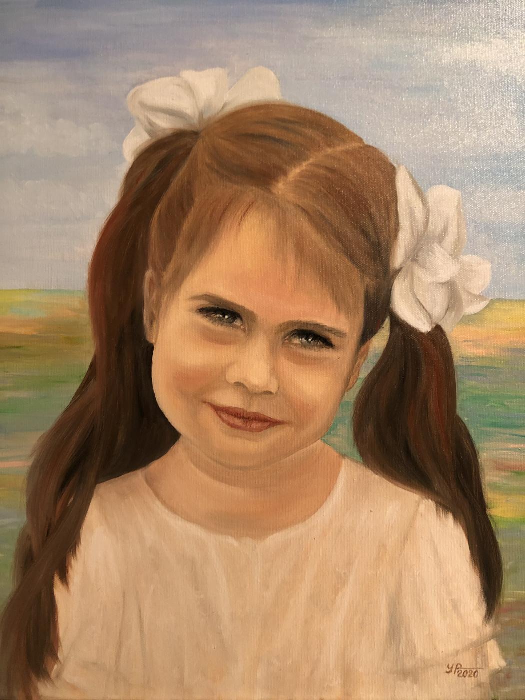 Raisa Alekseevna Ulyanova. Portrait of a girl