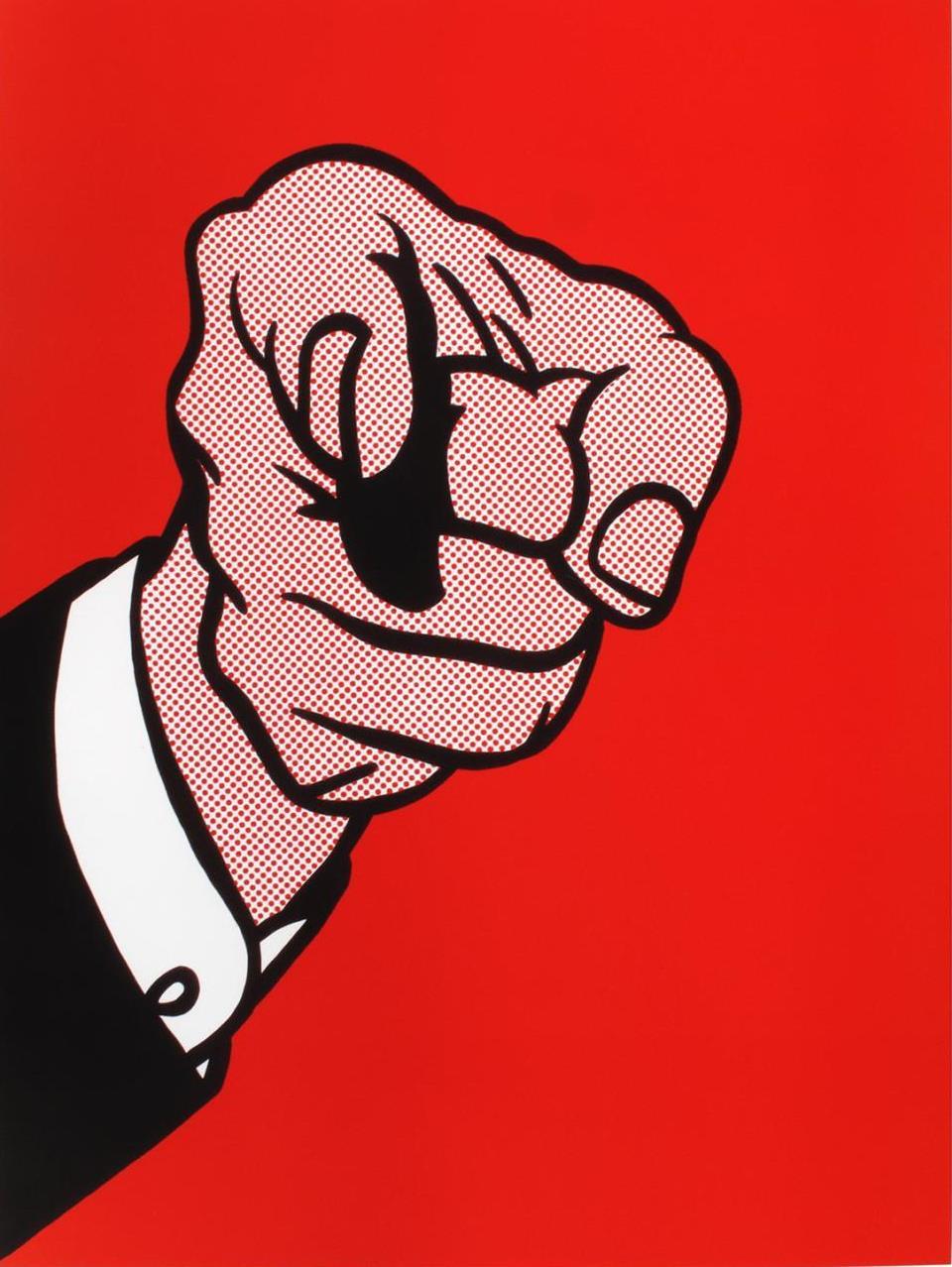 Roy Lichtenstein. Hey, you