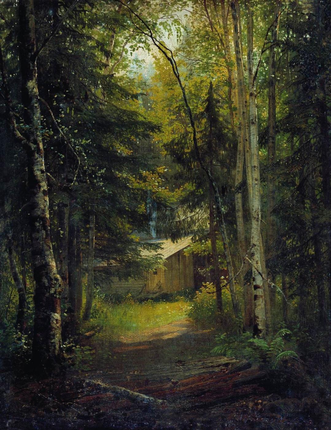 Ivan Shishkin. A Lodge in the woods