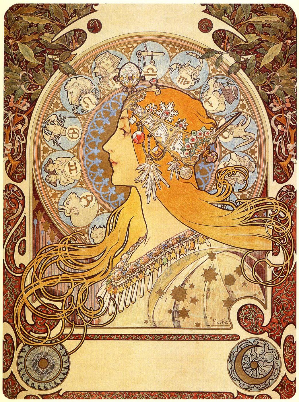 Alfons Mucha. Zodiac