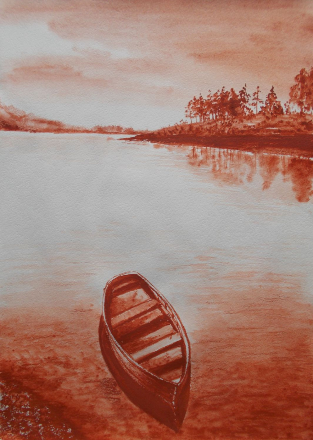 Vladimir Vasilyevich Abaimov. Landscape with a Boat 2