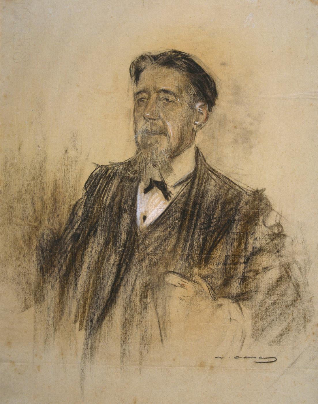 Ramon Casas i Carbó. Portrait of Melkor de Palau