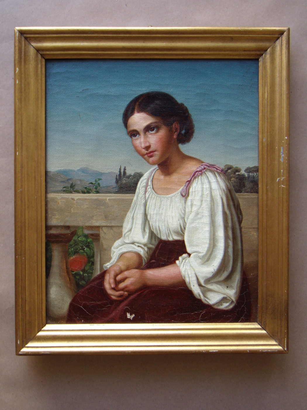 Unknown artist. Portrait of a young Italian woman.