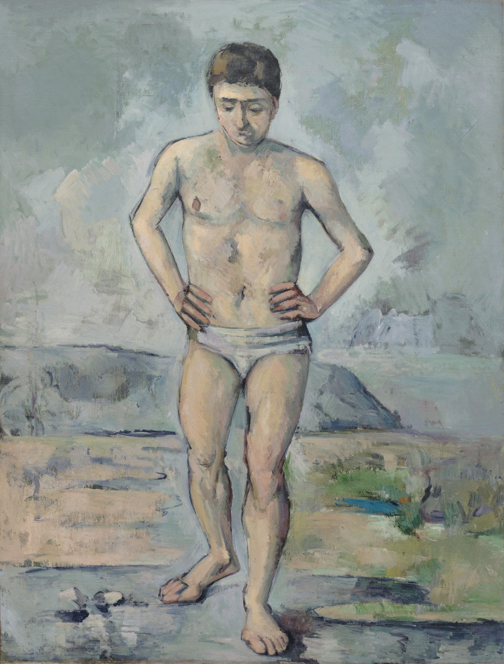 Paul Cezanne. Bather