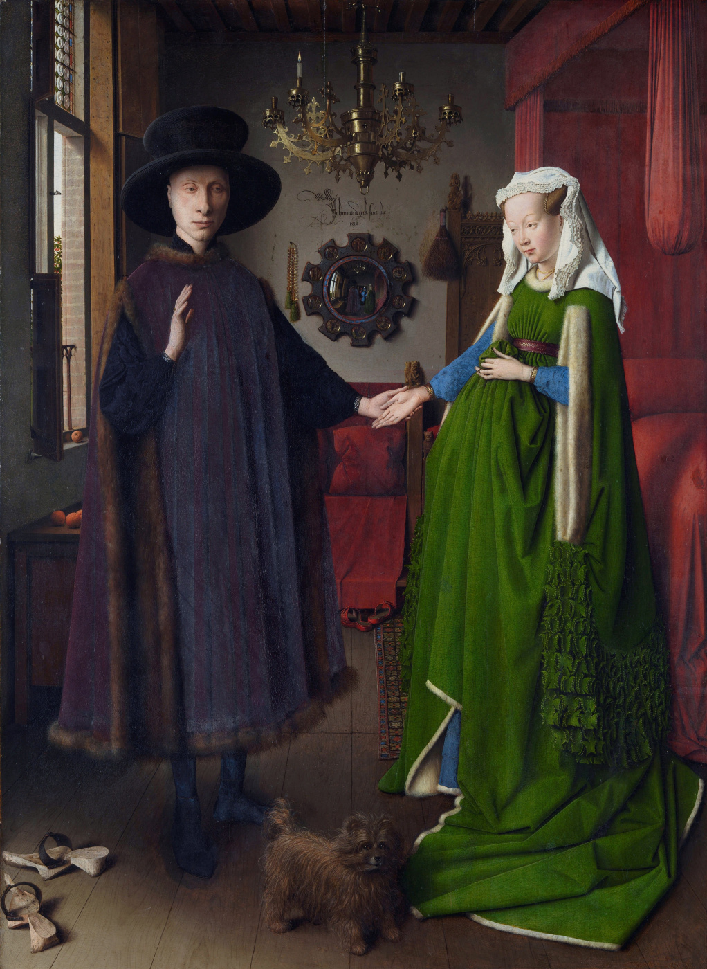 Jan van Eyck. The Arnolfini portrait