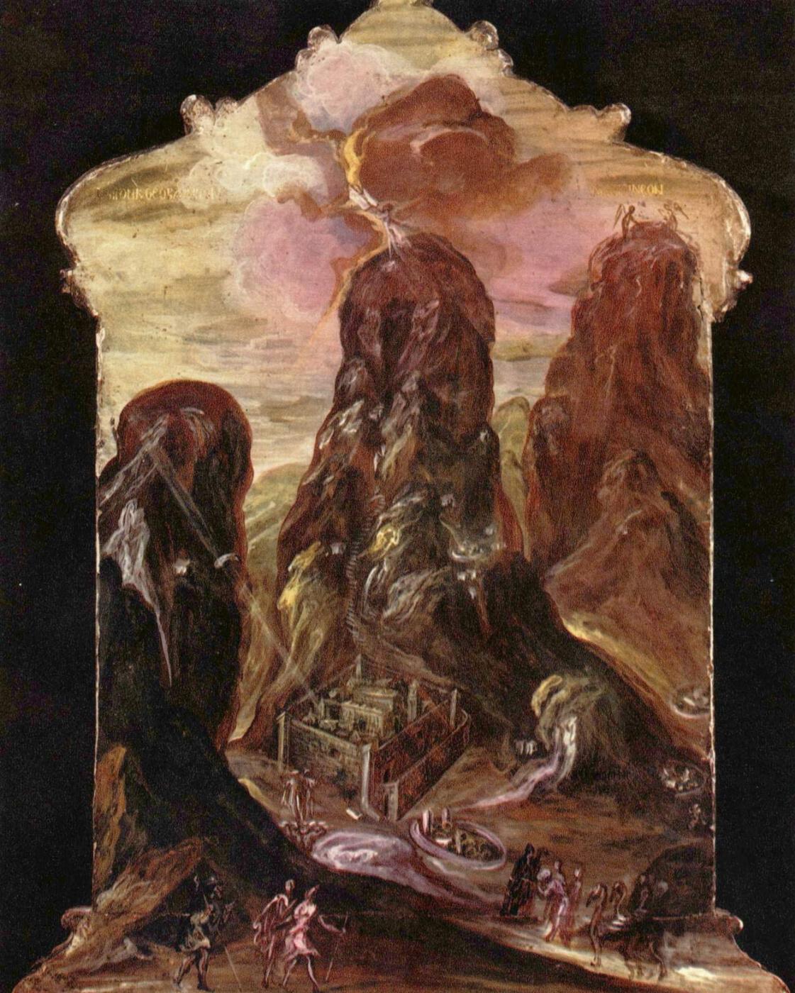 Domenico Theotokopoulos (El Greco). Mount Sinai