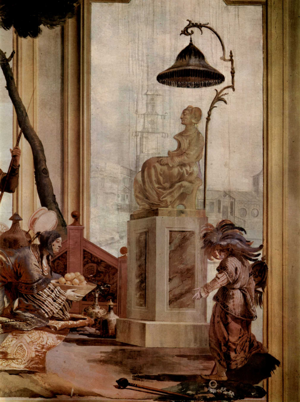 Giovanni Domenico Tiepolo. The frescoes of Villa Valmarana in Vicenza. The goddess of the moon fruit
