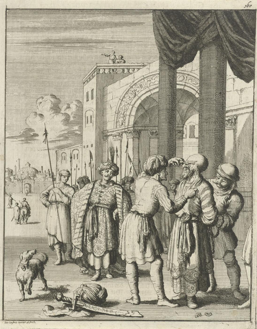 Jan Leuken. Cruel Shah Sephi orders to cut off his nose