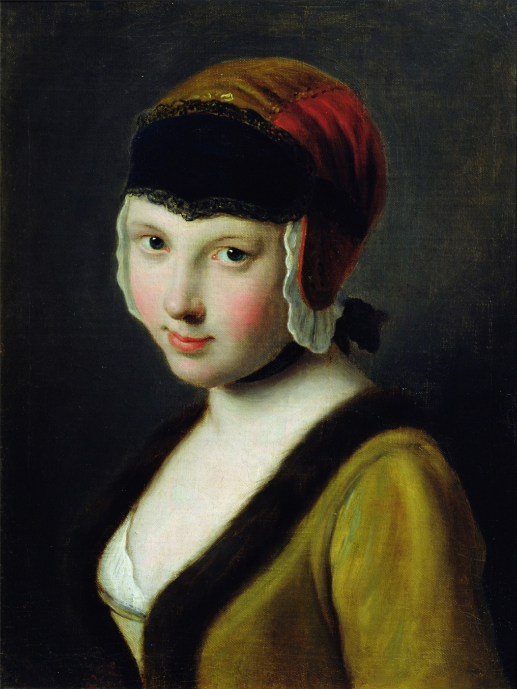 Pietro Rotary. Girl with black mask