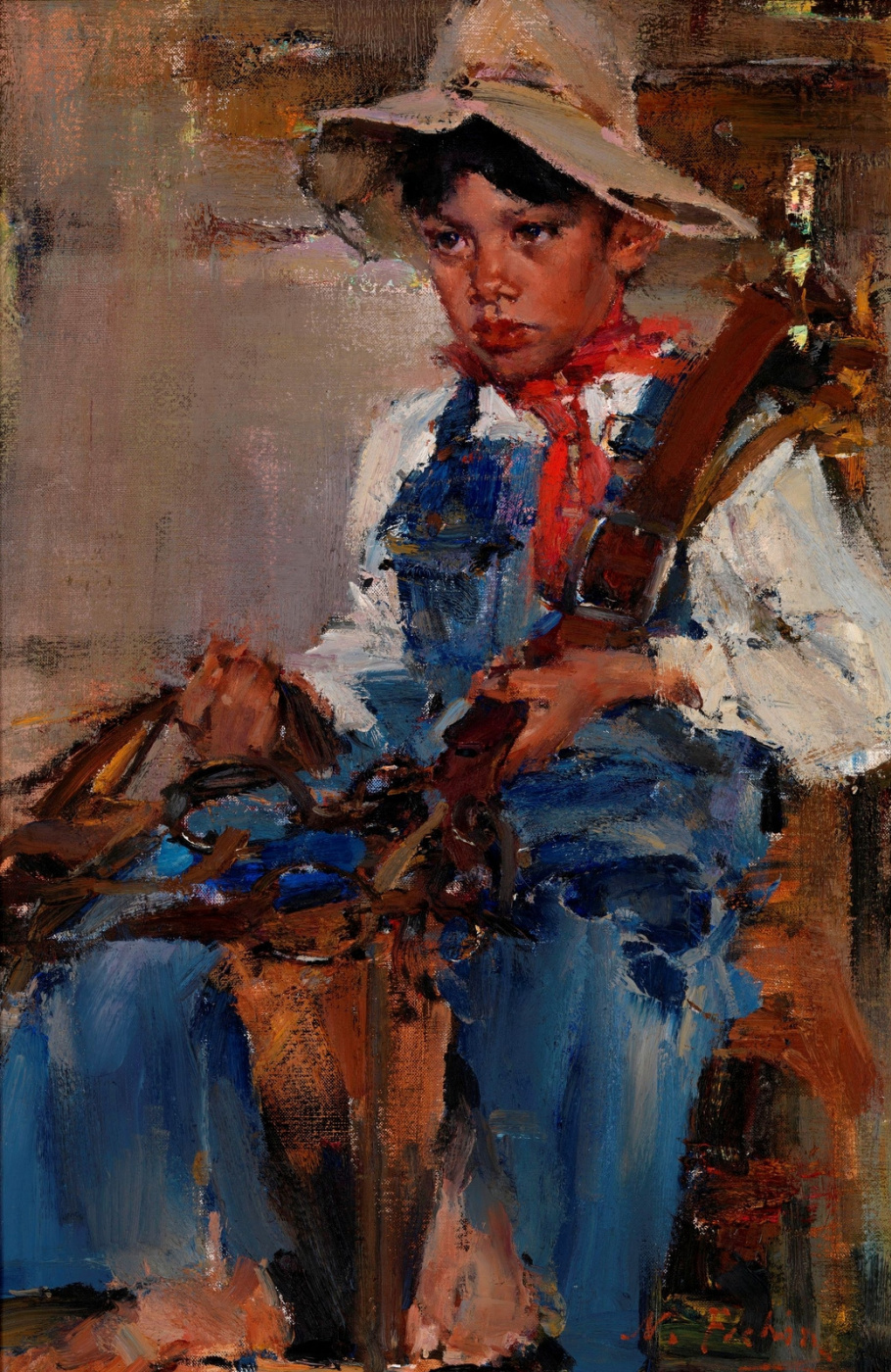Nikolay Ivanovich Feshin. Little cowboy