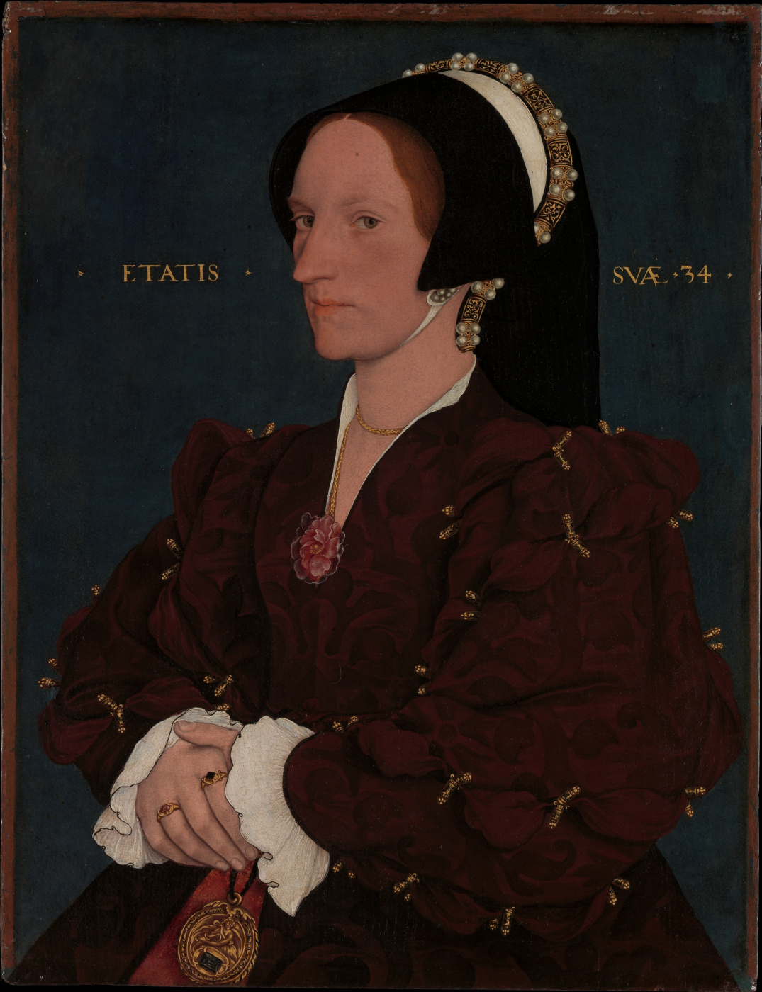 Hans Holbein the Younger. Portrait of Margaret Wyatt, Lady Lee