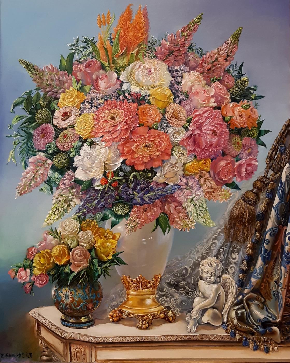 Evgeny Vladimirovich Terentyev. Bouquet with an angel