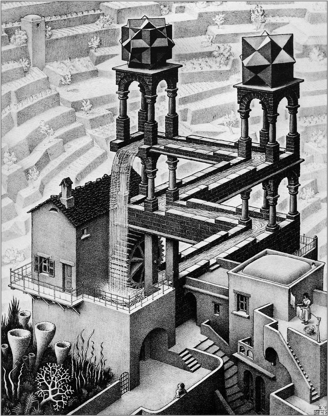 Maurits Cornelis Escher. Waterfall