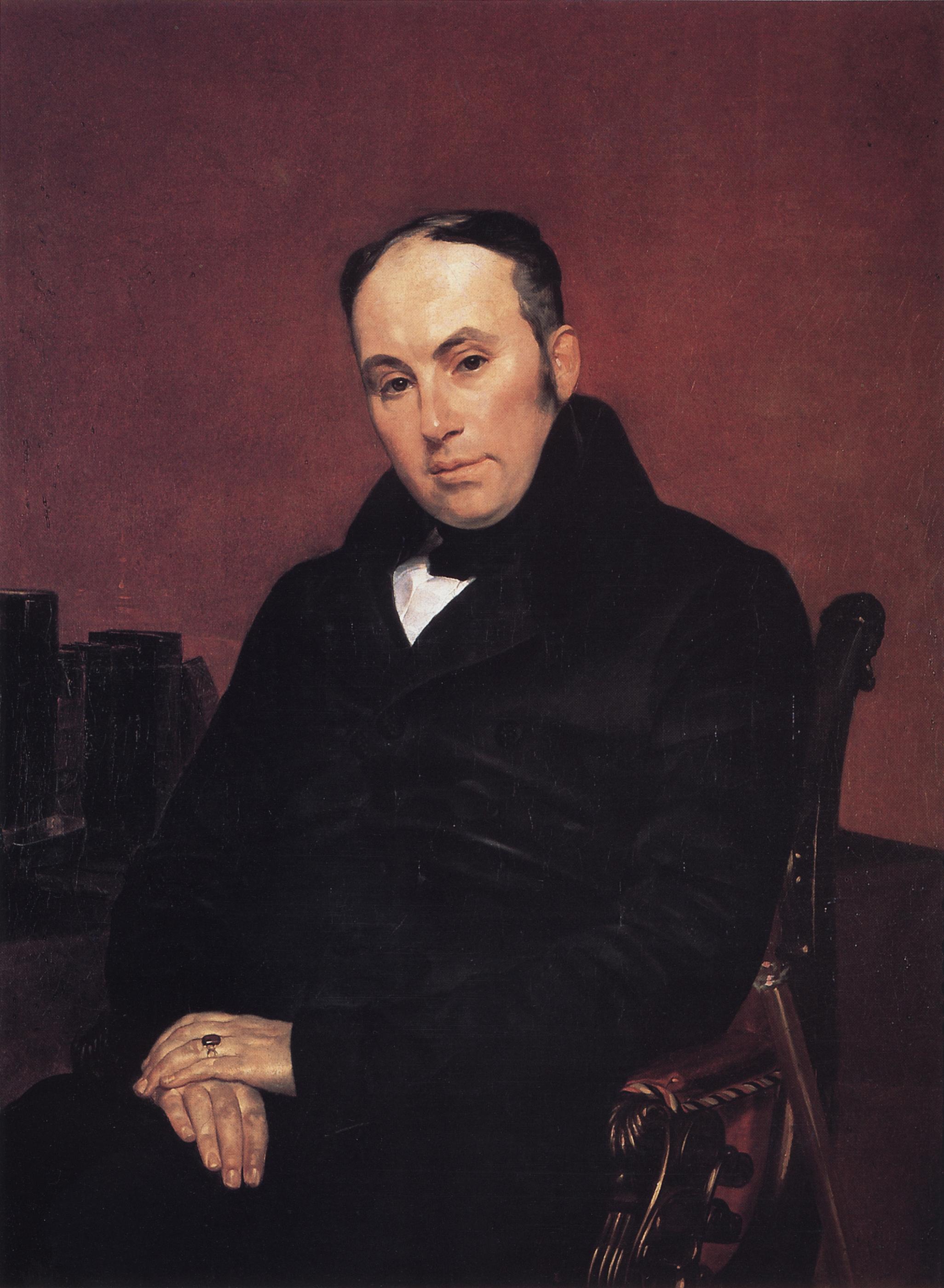 Karl Brullov, Portrait of Vasiliy Zhukovskiy, oil on canvas, 1837.