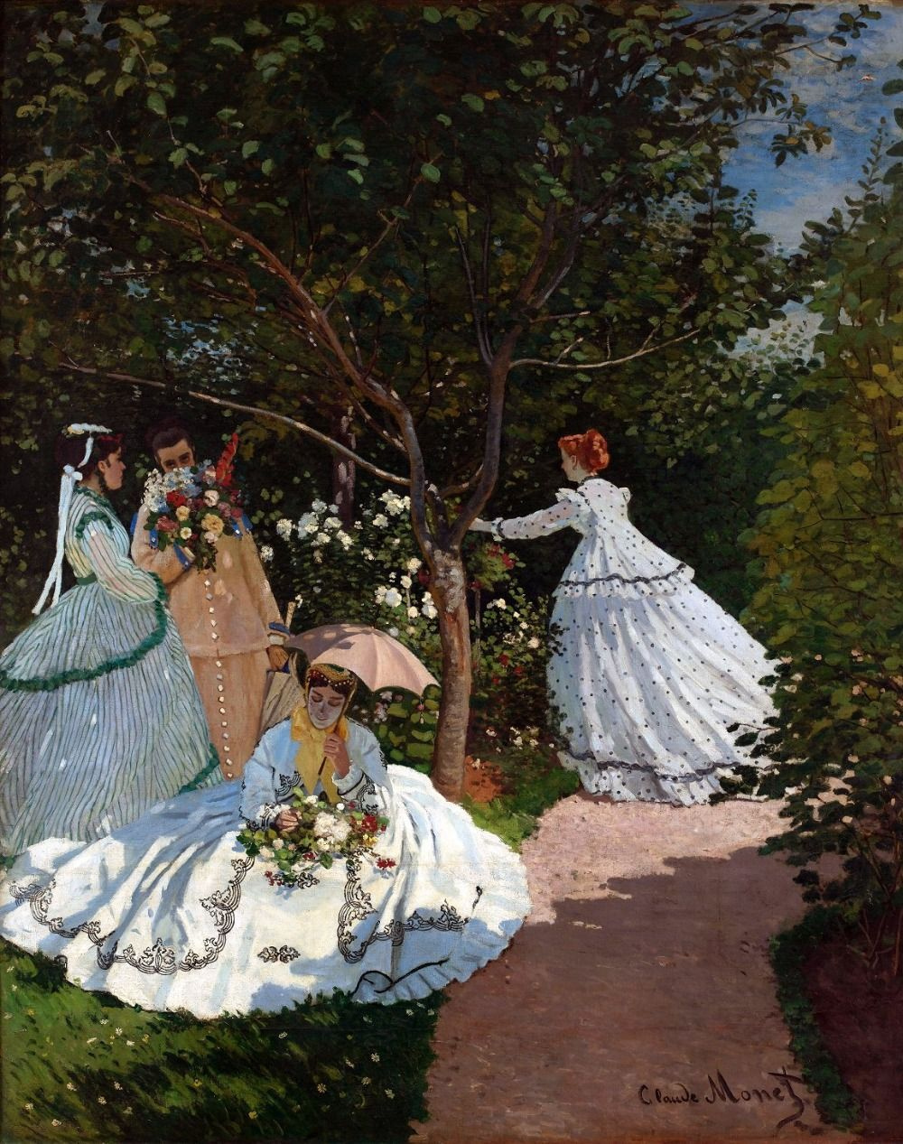 Claude Monet. Women in the garden